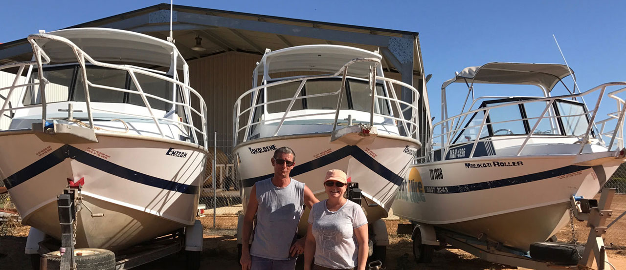 Murchison Boat Hire Owners Paul and Raelene Leatham